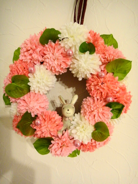 札幌造花リース1