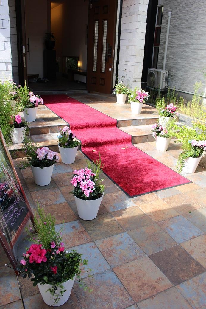 入口に飾る花鉢セット