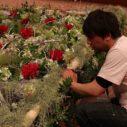 コンベンションセンターでの世界的なお花