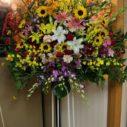 札幌市内へスタンド花