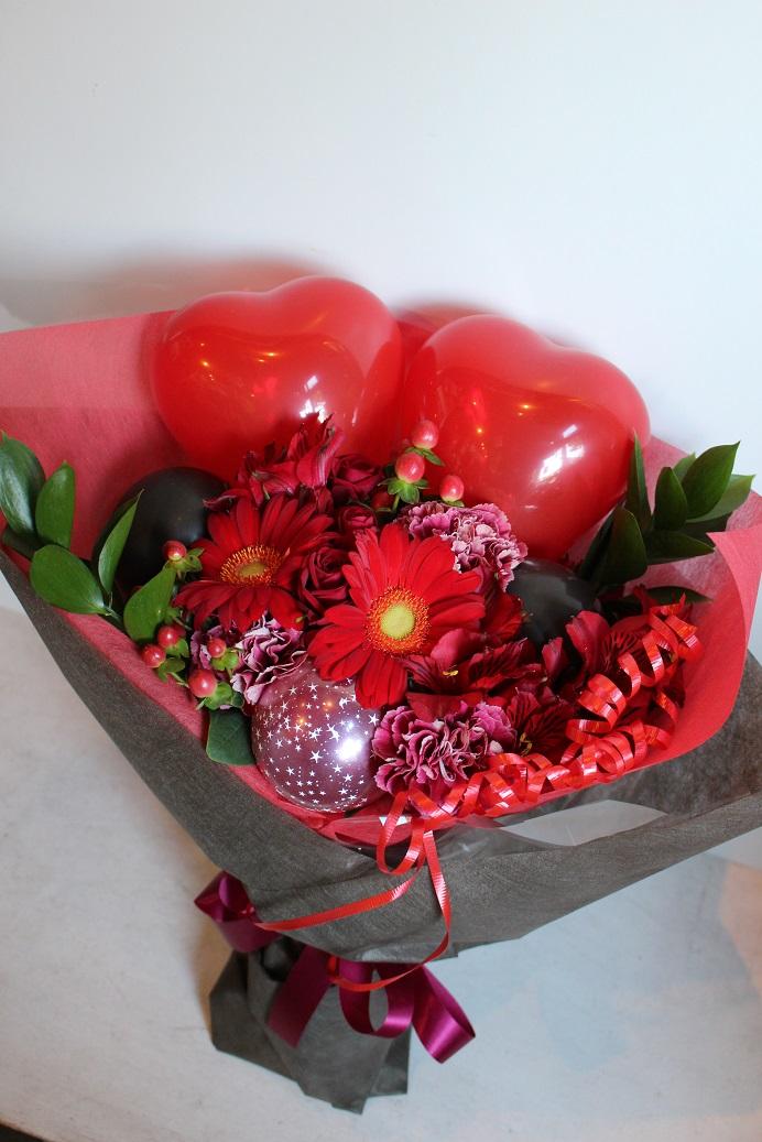 バルーン花束ハートップ