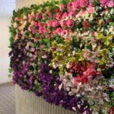 壁面造花ディスプレイ花